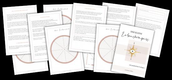 der kleine Lebenskompass - sämtliche Seiten des Lebenskompasses abgebildet