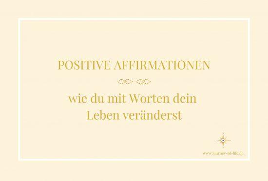 Positive Affirmationen - Titelbild Blogbeitrag